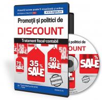 Promotii si politici de discount. Tratament fiscal-contabil